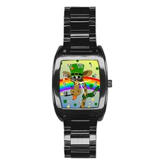 Irish Giraffe Stainless Steel Barrel Watch by Valentinaart