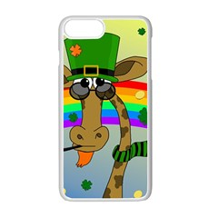 Irish giraffe Apple iPhone 7 Plus White Seamless Case by Valentinaart
