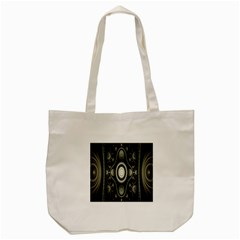 Fractal Beige Blue Abstract Tote Bag (cream) by Nexatart