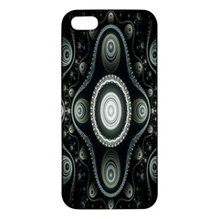 Fractal Beige Blue Abstract Iphone 5s/ Se Premium Hardshell Case