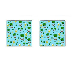 St  Patrick s Day Pattern Cufflinks (square) by Valentinaart