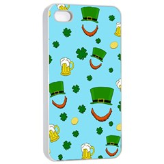 St  Patrick s Day Pattern Apple Iphone 4/4s Seamless Case (white)