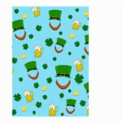 St  Patrick s Day Pattern Small Garden Flag (two Sides) by Valentinaart