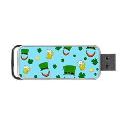 St  Patrick s Day Pattern Portable Usb Flash (one Side) by Valentinaart