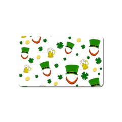 St  Patrick s Day Pattern Magnet (name Card) by Valentinaart