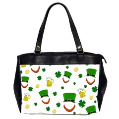 St  Patrick s Day Pattern Office Handbags (2 Sides)  by Valentinaart