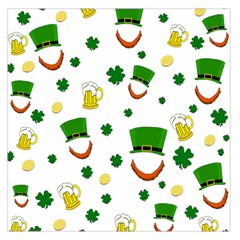 St  Patrick s Day Pattern Large Satin Scarf (square)