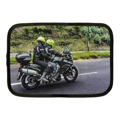 Motorcycles Riders At Avenue Netbook Case (medium)  by dflcprints
