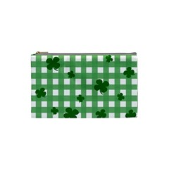Clover Pattern Cosmetic Bag (small)  by Valentinaart