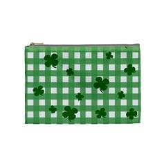 Clover Pattern Cosmetic Bag (medium)  by Valentinaart