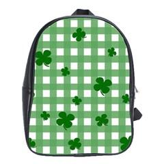 Clover Pattern School Bags(large)  by Valentinaart