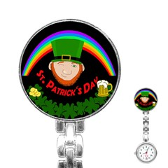 St  Patrick s Day Stainless Steel Nurses Watch by Valentinaart