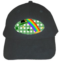 St  Patrick s Day Rainbow Black Cap by Valentinaart