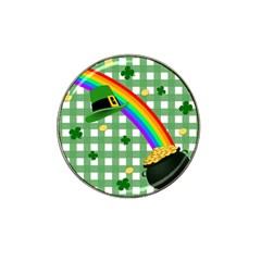 St  Patrick s Day Rainbow Hat Clip Ball Marker by Valentinaart