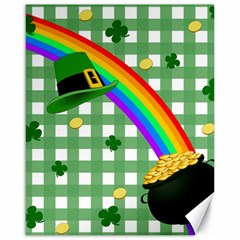 St  Patrick s Day Rainbow Canvas 16  X 20   by Valentinaart