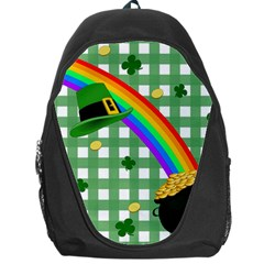 St  Patrick s Day Rainbow Backpack Bag by Valentinaart
