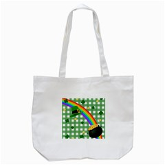 St  Patrick s Day Rainbow Tote Bag (white)