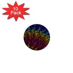 Fractal Art Design Colorful 1  Mini Magnet (10 Pack)  by Nexatart