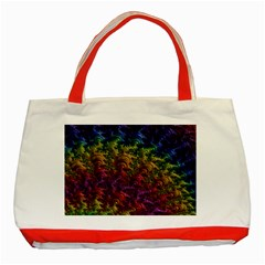 Fractal Art Design Colorful Classic Tote Bag (red) by Nexatart