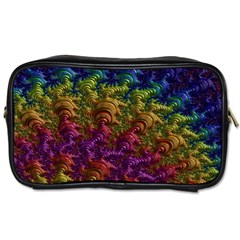 Fractal Art Design Colorful Toiletries Bags 2 Side by Nexatart