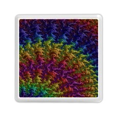 Fractal Art Design Colorful Memory Card Reader (square)  by Nexatart