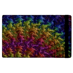 Fractal Art Design Colorful Apple Ipad 2 Flip Case