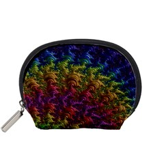 Fractal Art Design Colorful Accessory Pouches (small)  by Nexatart