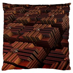 Fractal 3d Render Futuristic Large Cushion Case (two Sides) by Nexatart
