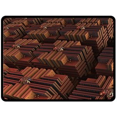 Fractal 3d Render Futuristic Double Sided Fleece Blanket (large)  by Nexatart
