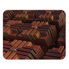 Fractal 3d Render Futuristic Double Sided Flano Blanket (large)