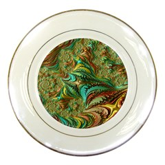 Fractal Artwork Pattern Digital Porcelain Plates