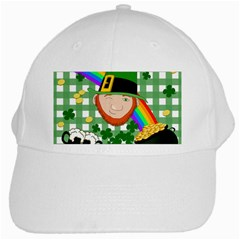 Lucky Irish White Cap by Valentinaart