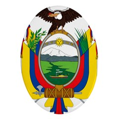 Coat Of Arms Of Ecuador Ornament (oval) by abbeyz71