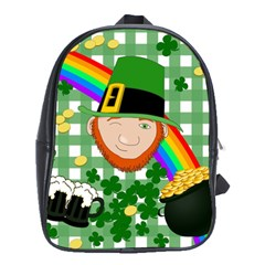 Lucky Irish School Bags (xl)  by Valentinaart
