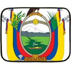 Coat Of Arms Of Ecuador Double Sided Fleece Blanket (mini)  by abbeyz71