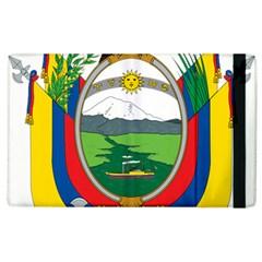 Coat Of Arms Of Ecuador Apple Ipad 2 Flip Case by abbeyz71