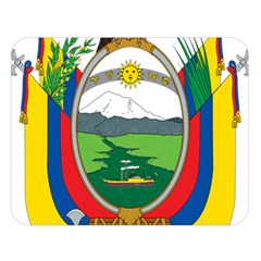 Coat Of Arms Of Ecuador Double Sided Flano Blanket (large)  by abbeyz71
