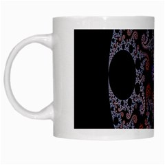 Fractal Complexity Geometric White Mugs