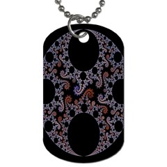 Fractal Complexity Geometric Dog Tag (one Side)