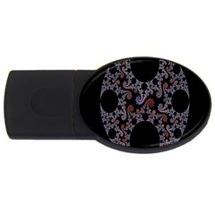 Fractal Complexity Geometric Usb Flash Drive Oval (2 Gb)