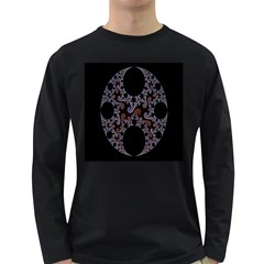Fractal Complexity Geometric Long Sleeve Dark T Shirts