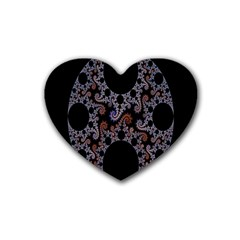 Fractal Complexity Geometric Heart Coaster (4 Pack)  by Nexatart