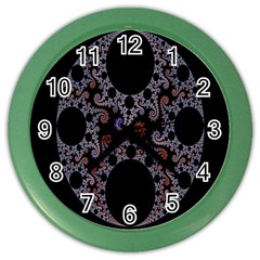 Fractal Complexity Geometric Color Wall Clocks by Nexatart