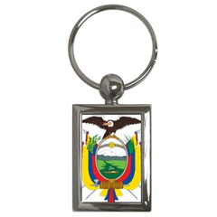 Coat Of Arms Of Ecuador Key Chains (rectangle)  by abbeyz71