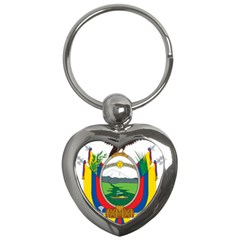 Coat Of Arms Of Ecuador Key Chains (heart)  by abbeyz71