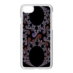 Fractal Complexity Geometric Apple iPhone 7 Seamless Case (White) by Nexatart