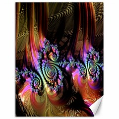 Fractal Colorful Background Canvas 12  X 16