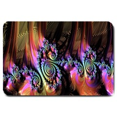 Fractal Colorful Background Large Doormat