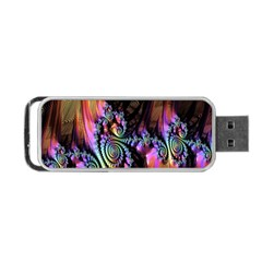Fractal Colorful Background Portable Usb Flash (two Sides)