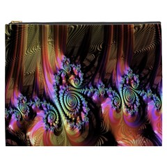 Fractal Colorful Background Cosmetic Bag (xxxl)